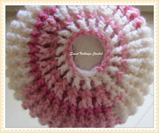 crochet head wear, crochet messy bun cap