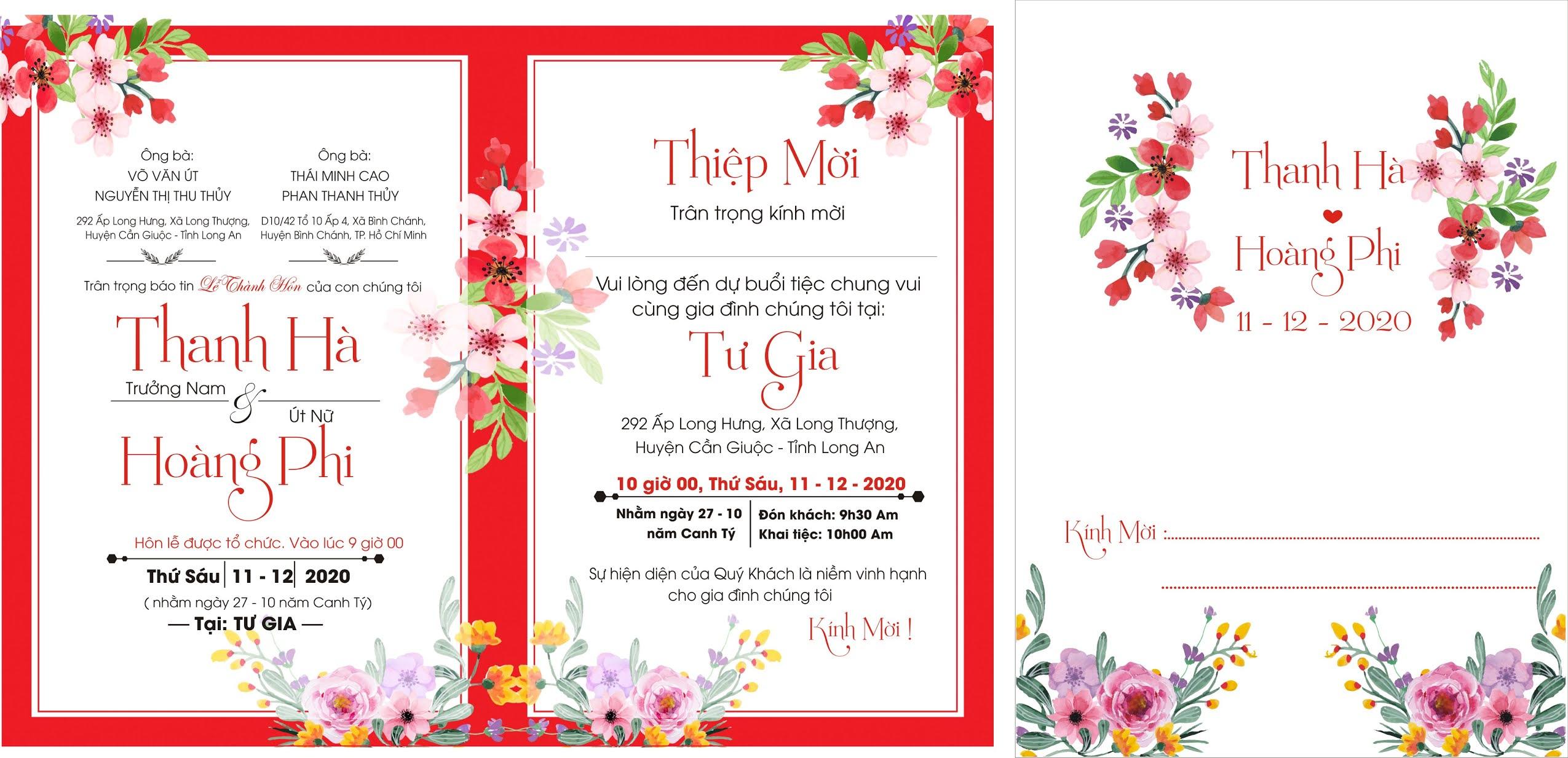 Chia sẻ mẫu thiệp cưới đẹp miễn phí