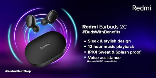 Redmi announces EarBuds 2C and SonicBass