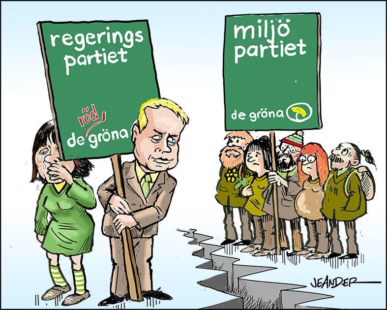 Regeringspartiet – de gröna
