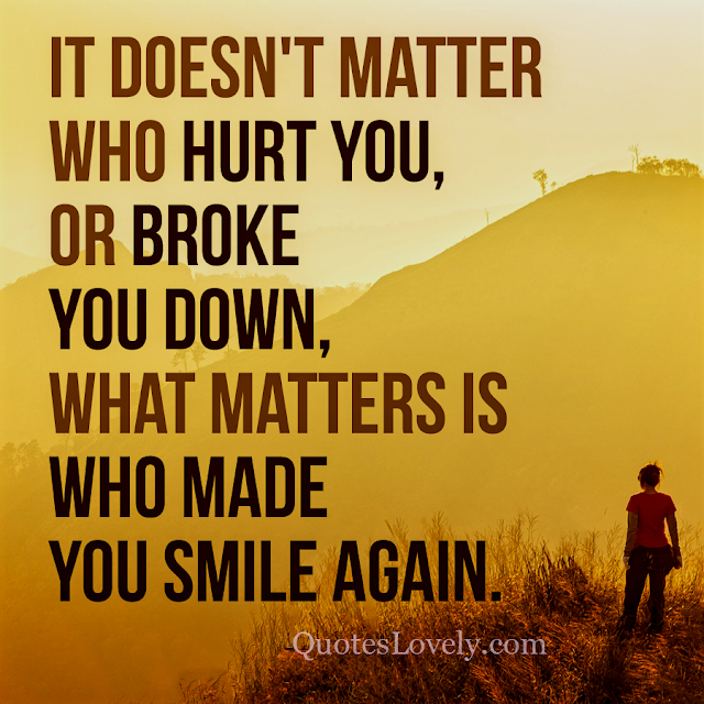 it doesn't matter who hurt you