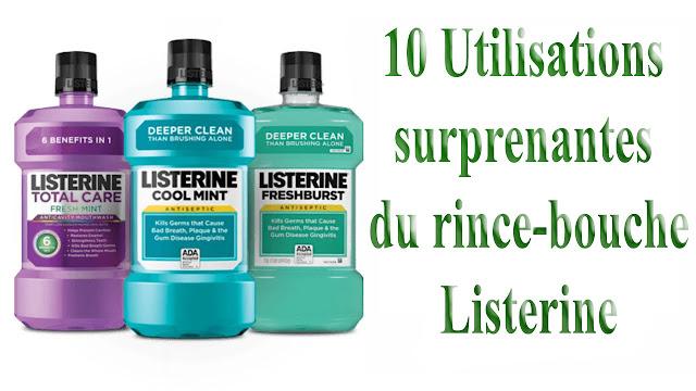 Utilisations surprenantes du rince-bouche Listerine dont vous n'avez jamais entendu parler