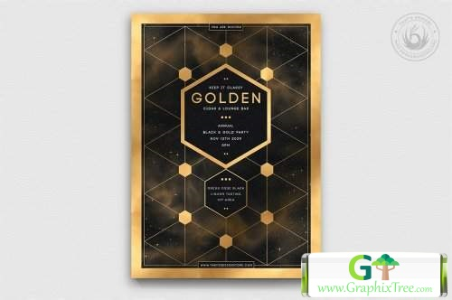 Black and Gold Flyer Template V21 5467196