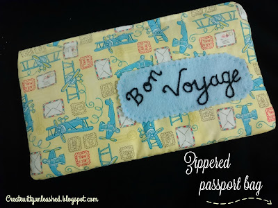 zippered passport bag