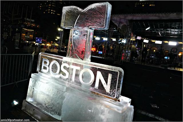 Esculturas de Hielo de la First Night de Boston en Copley