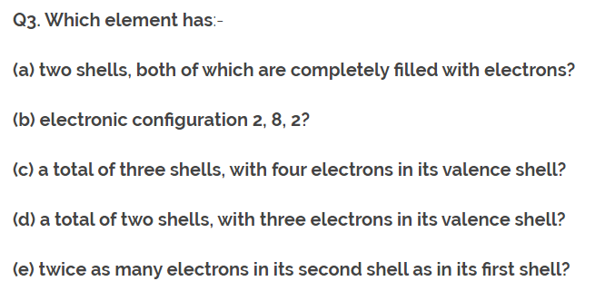 Class 10th Ch-5 Ncert Questions Answer Periodic Table Q3.