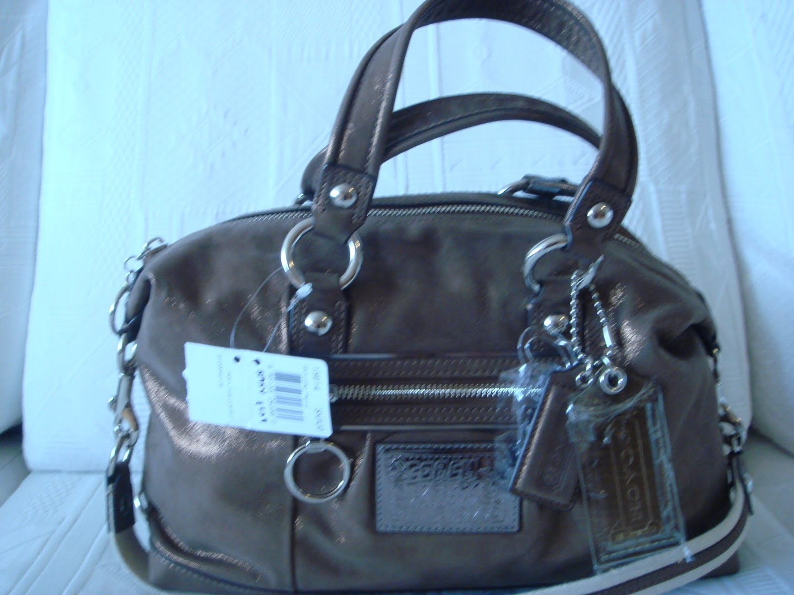 F15915 Coach Poppy Lucky Penny Leather Luxey Satchel 365
