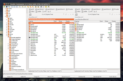 Double Commander file manager Ubuntu
