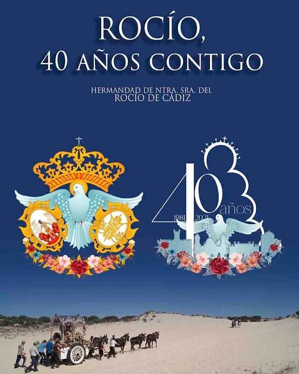 La Hermandad del Rocío de Cádiz presentó ayer el logo de la celebración de sus 40 años