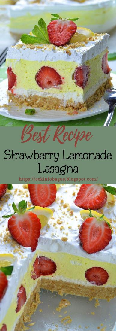 Strawberry Lemonade Lasagna #desserts #cakerecipe #chocolate