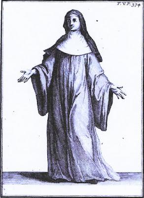 Cisterciënzerin in koorgewaad