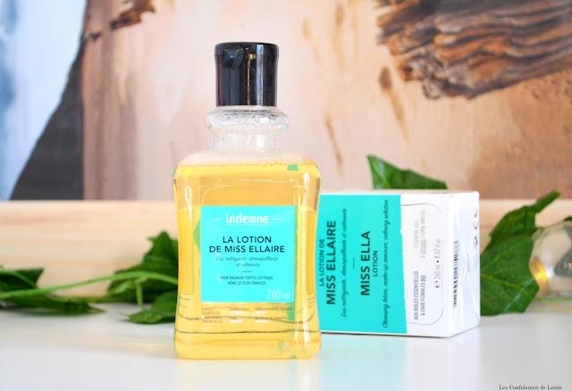 eau micellaire - eau micellaire bio - eau nettoyante - eau démaquillante - huiles essentielles - huile végétale démaquillante - Indemne - soin bio - soin naturel