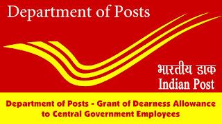 DA Order Jan 2018 - Department of Posts