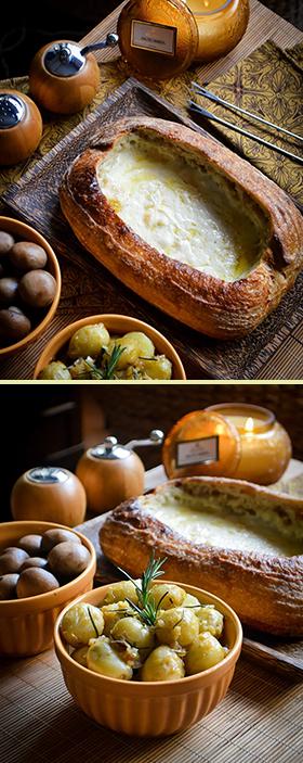 Piscina de Raclette no Pão Sourdough