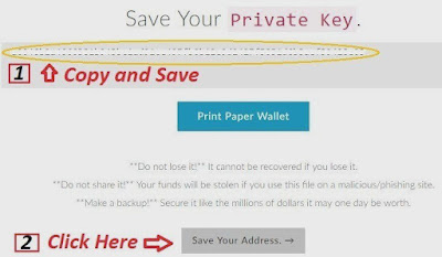 myetherwallet save your private key
