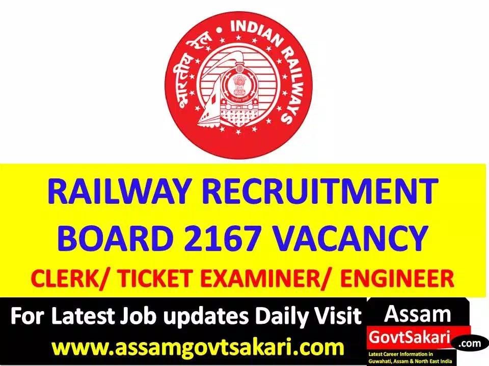 RRB Recruitment 2019-Clerk/ Attendant/ Ticket Examiner/ Engineer