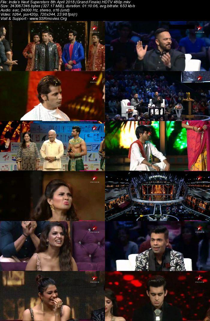 India's Next Superstars 8th April 2018 (Grand Finale) HDTV 480p