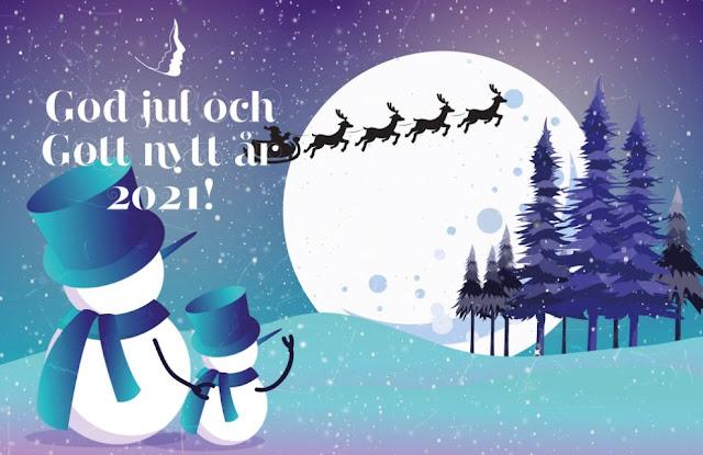 God jul och Gott nytt år 2021 till er alla i Sverige!