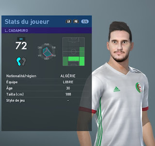 PES 2019 Faces Liassine Cadamuro-Bentaïba by TiiToo Facemaker