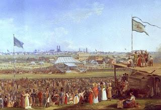 Oktoberfest horse race circa 1823 by Heinrich Adam