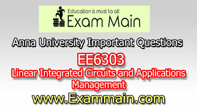 EE6303 - Linear Integrated Circuits