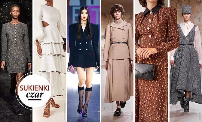 modne sukienki jesień 2021