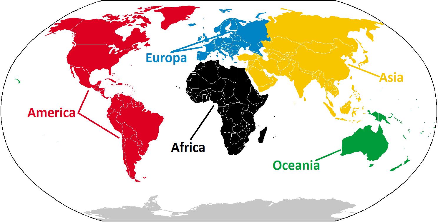 Imagenes De Los Cinco Continentes