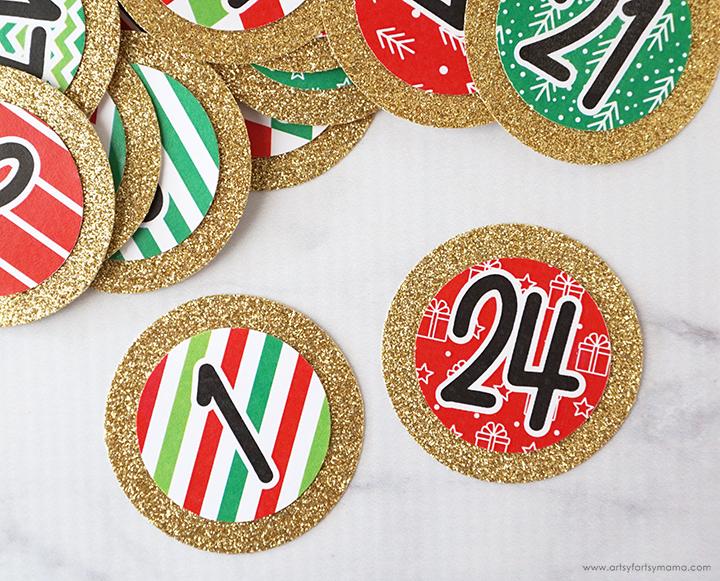 Magnetic Advent Calendar Wreath
