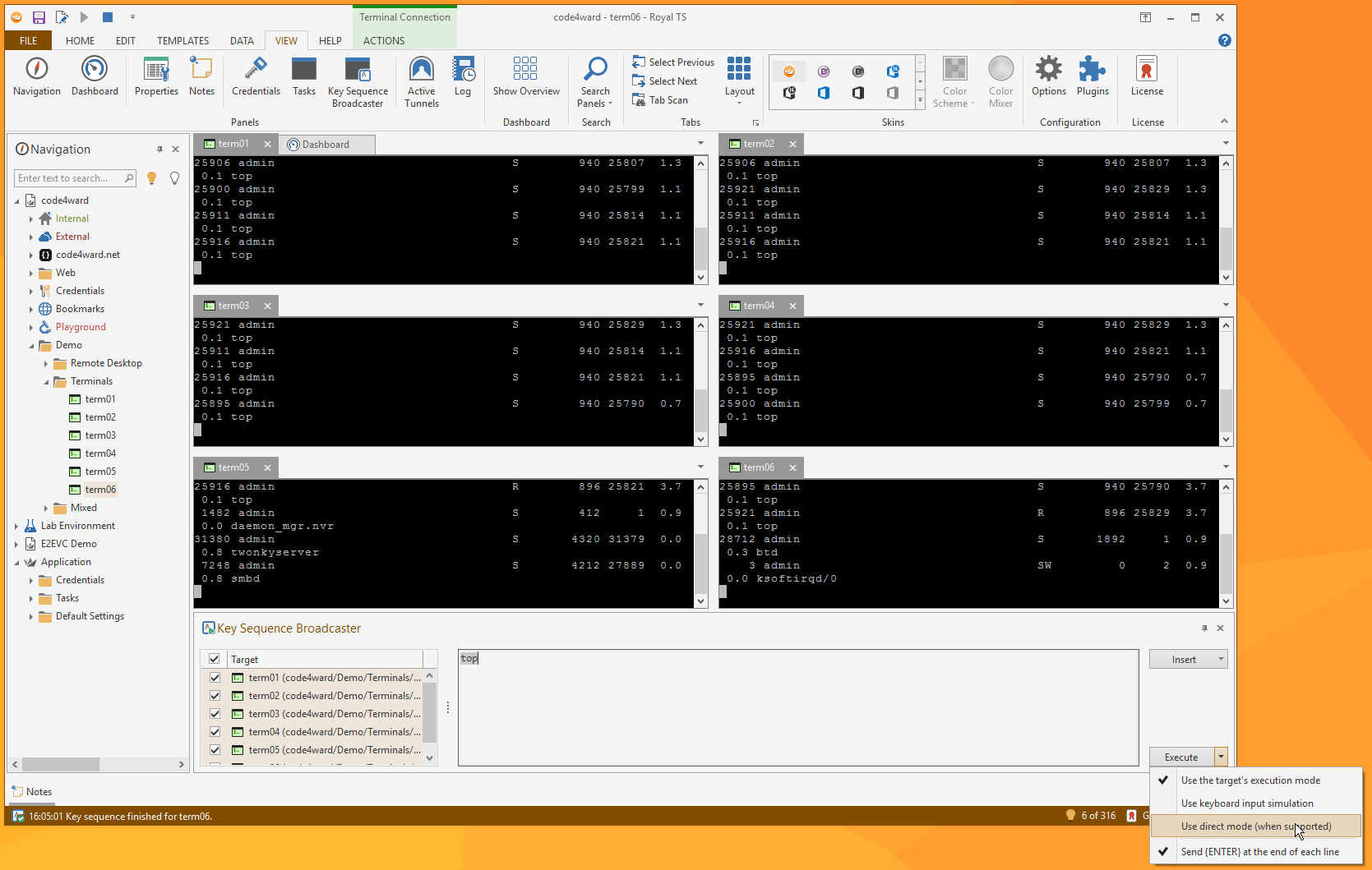 Download Code4Ward Royal TS 3.2.9 Full Key,Quản lý các hệ thống từ xa RDP và Hyper-V.