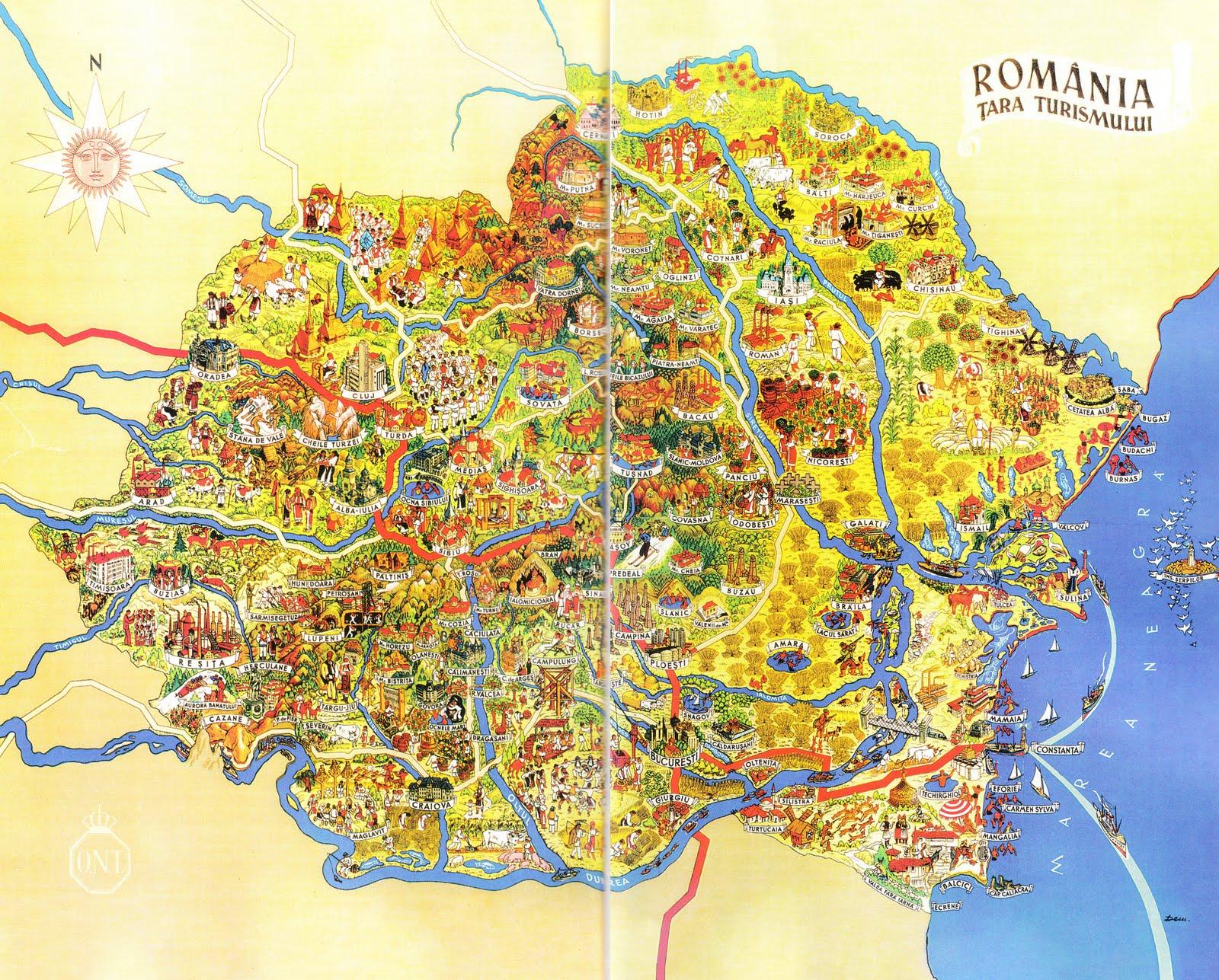 Jurnalul Lui Vlad țurcanu Harta Turistică A Romaniei Interbelice