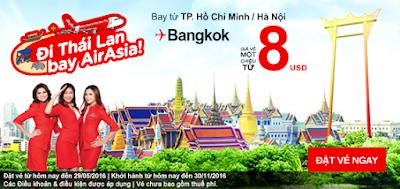 Bay ngay cùng vé rẻ Air Asia giá từ 8 usd