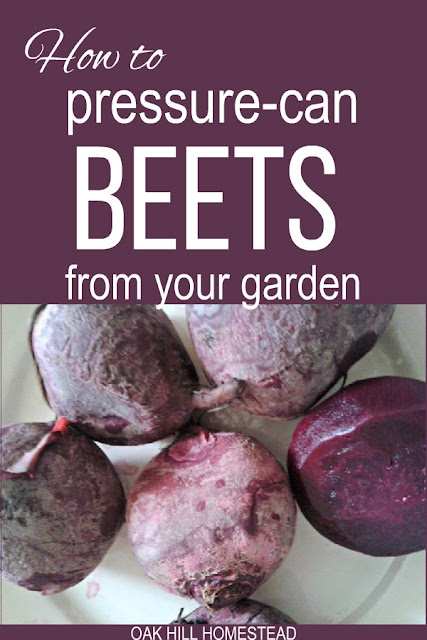How to pressure can beets.