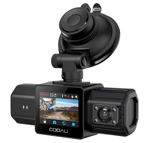 COOAU D20 1080P Front and Rear WiFi Dash Camera for Cars