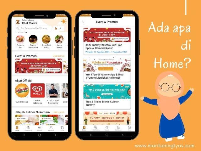 menu home Yummy App