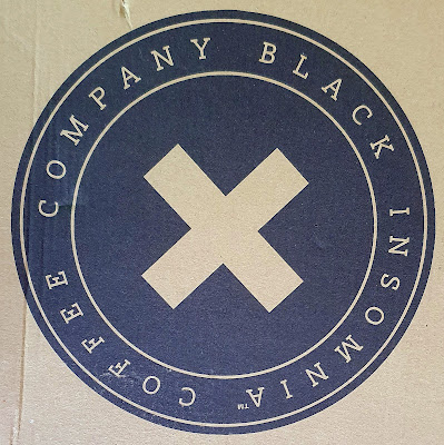 Black Insomnia LOGO on cardboard box