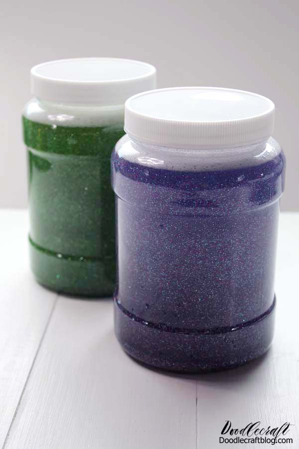 Make a relaxing glitter jar to help relax and calm emotions during this unusual time.