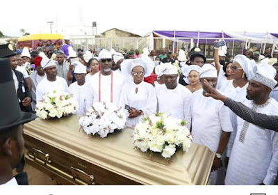 dino melaye mother burial