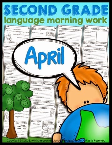 Second Grade Language Morning Work: April