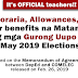 Official Honoraria and Allowances for Teachers on Nat'l Elections