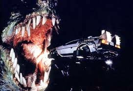 T-Rex dans l'attraction Retour vers le futur, du parc Universal Studios, en Californie