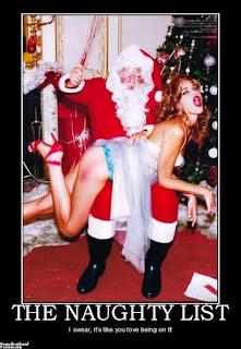 Santa spanks