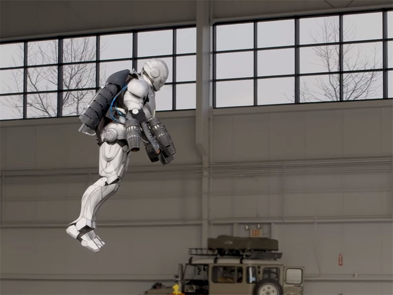 Watch: Man builds a 3D-printed real-life Iron Man suit that can fly