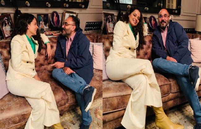 कंगना रनौत ने की निर्देशक सर्वेश मेवाड़ा की तारीफ, 'तेजस' की टीम संग अभिनेत्री और उनके भाई-बहन ने की मस्ती