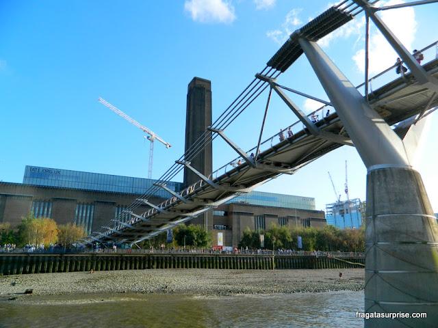 Tate Modern e Millenium Bridge, Londres
