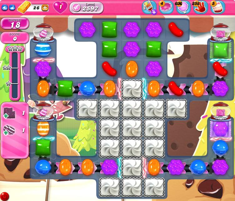 Candy Crush Saga level 2597