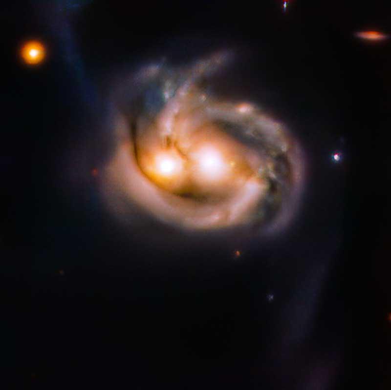'Olhos' revelam fusão de duas galáxias em nossa vizinhança