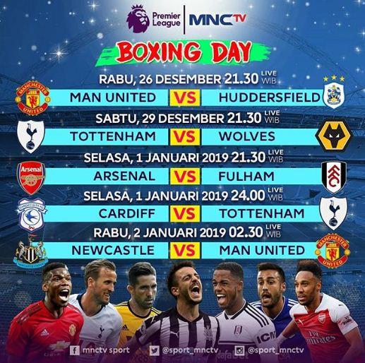 Jadwal Boxing Day Liga Inggris 2018-2019
