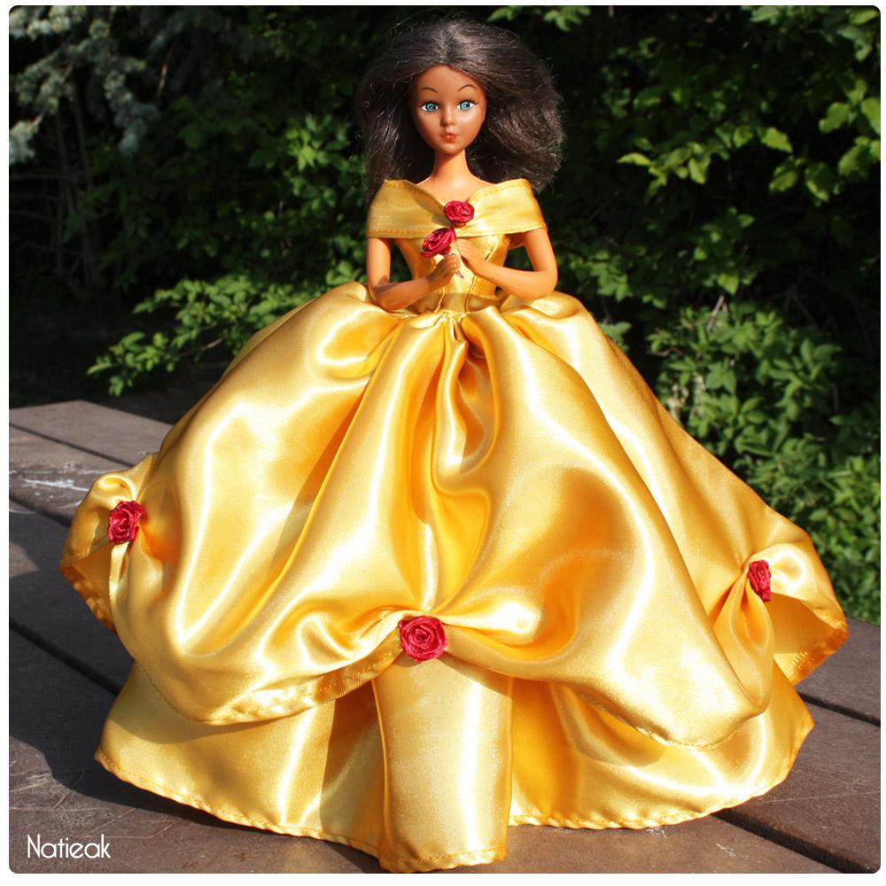 Diy cr er la robe de la belle et la b te pour barbie challengedollscouturediy n 3 le petit - La belle princesse ...