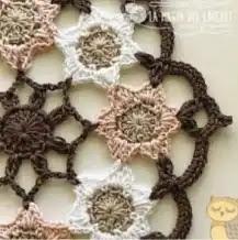 Tapete con Flores a Crochet