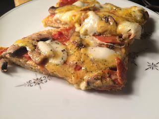 Pocket Oven- Chicken Crusted Pepperoni and Mushroom Pizza (Keto, Low-Carb, Gluten-Free)